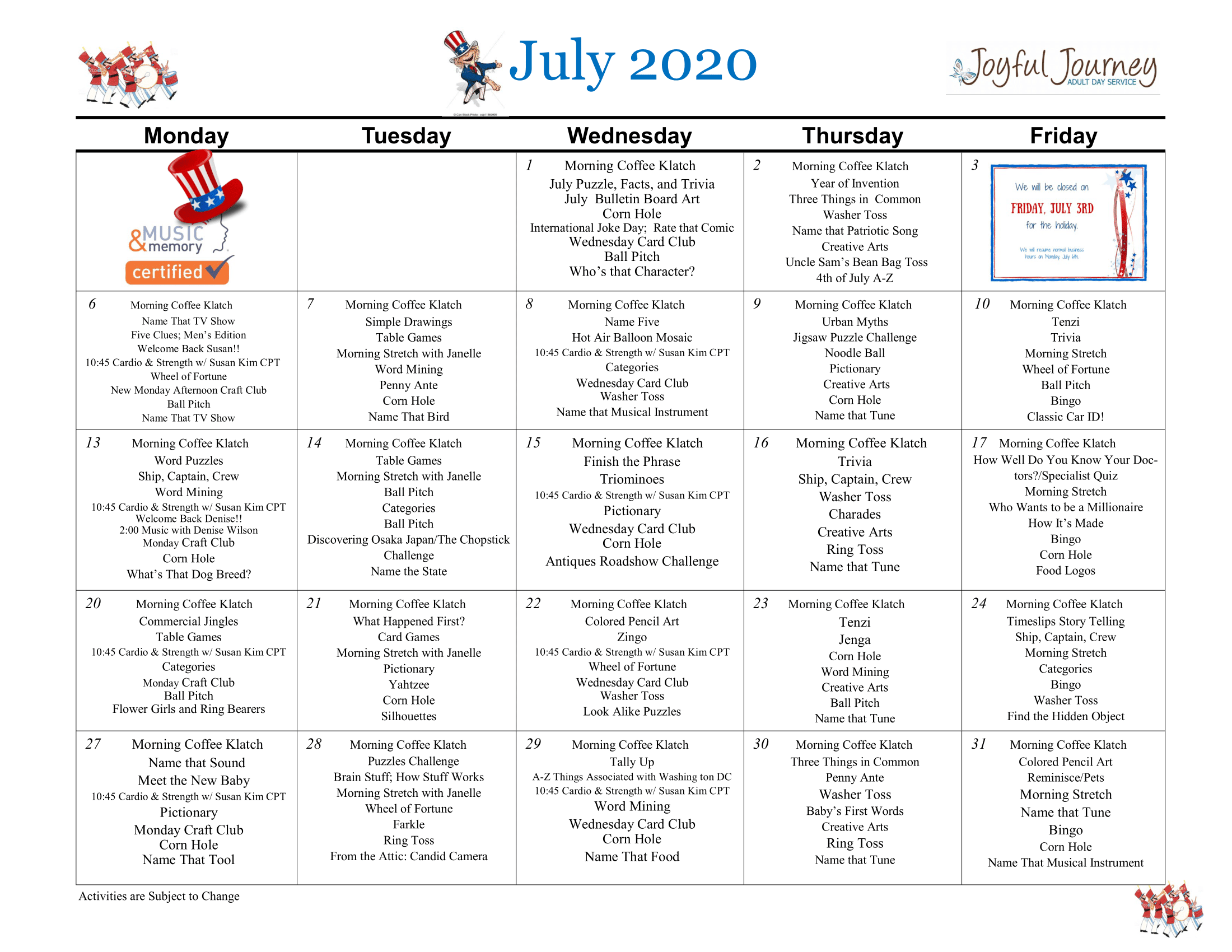 July 2020 Activity Calendar-1